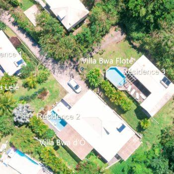 Vue du ciel Diamant Vert Martinique