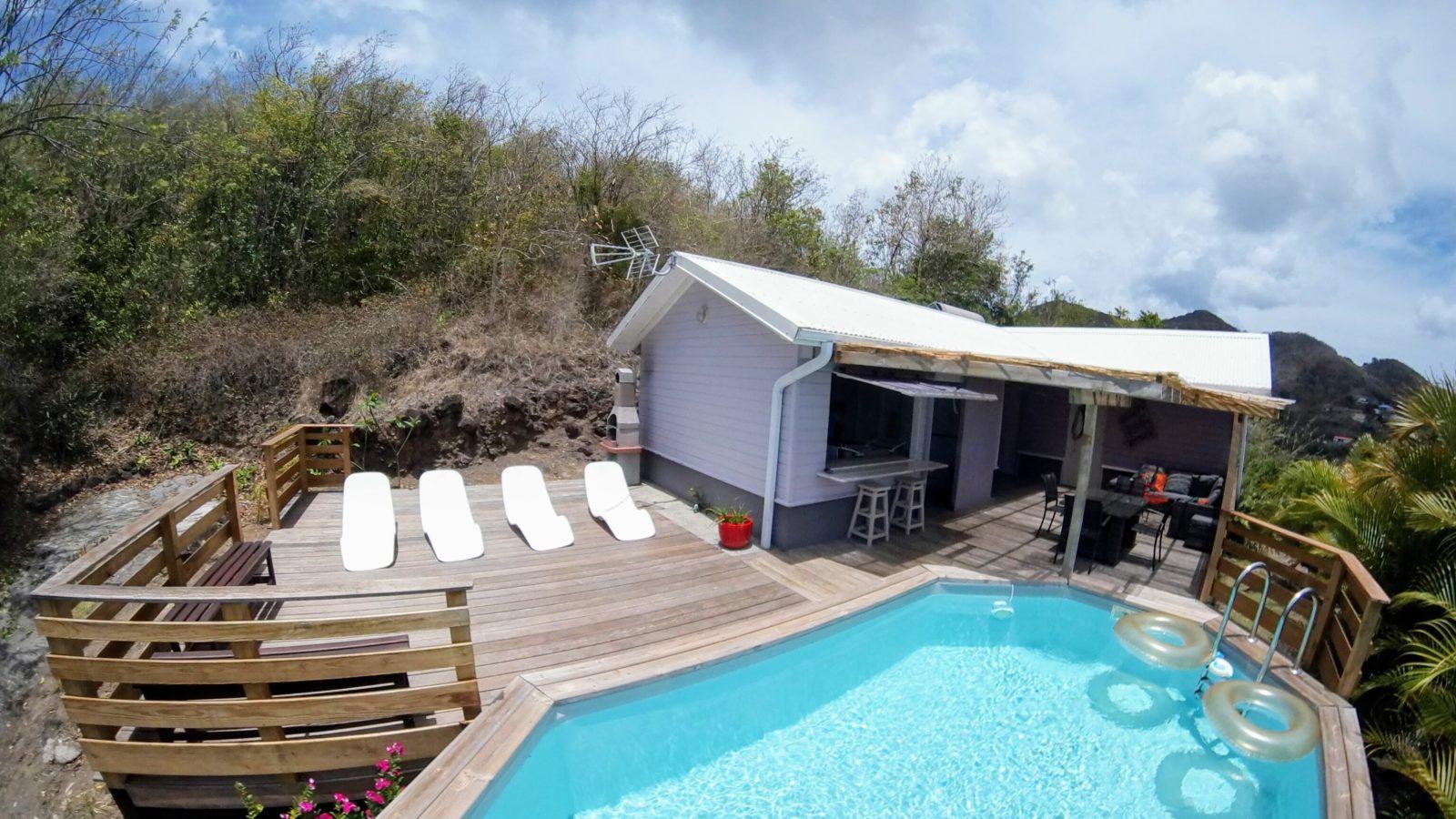 Vue d'ensemble Villa Bwa Floté Diamant Vert Martinique